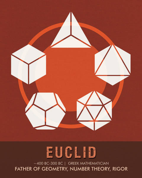 Vintage Poster Mixed Media - Science Posters - Euclid - Mathematician by Studio Grafiikka