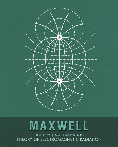 Best Selling Mixed Media - Science Posters - James Clerk Maxwell - Physicist by Studio Grafiikka