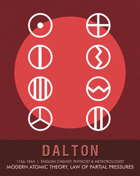 Technology Mixed Media - Science Posters - John Dalton - Chemist, Physicist by Studio Grafiikka
