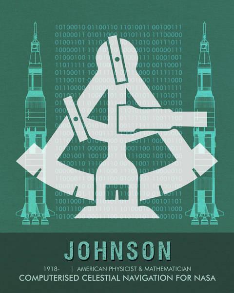 Technology Mixed Media - Science Posters - Katherine Johnson - Mathematician, Physicist by Studio Grafiikka