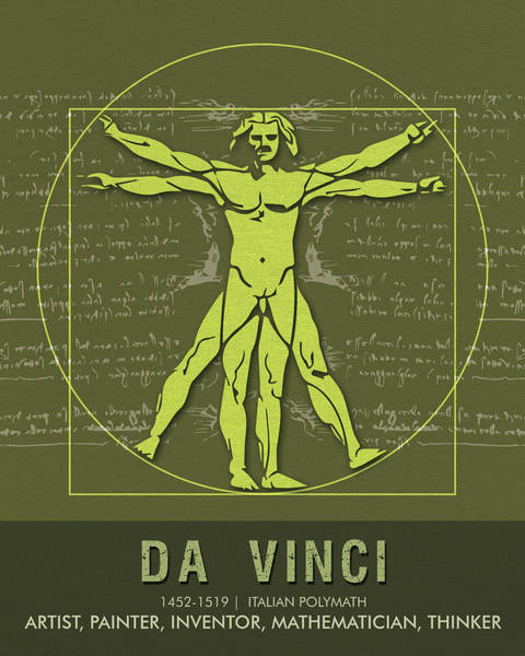 Best Selling Mixed Media - Science Posters - Leonardo Da Vinci - Artist, Inventor, Mathematician by Studio Grafiikka