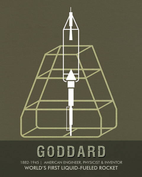 Technology Mixed Media - Science Posters - Robert.h.goddard - Engineer, Physicist, Inventor by Studio Grafiikka