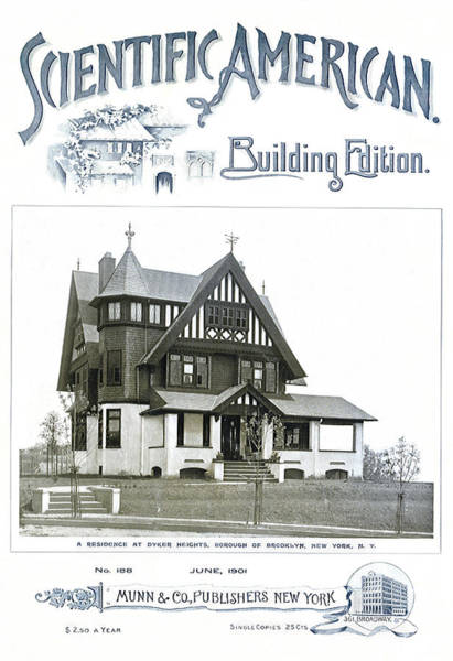 Wall Art - Mixed Media - Scientific American Building Edition 1901, House At Dyker Heights, Brooklyn, Ny by Zal Latzkovich