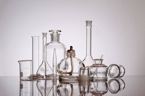 Labs Photograph - Scientific Glassware by Tom Mc Nemar