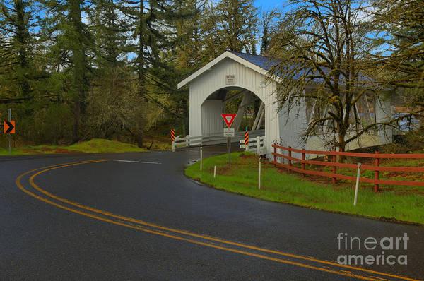 Photograph - Scio Oregon Hannah Covered Bridge by Adam Jewell
