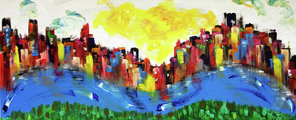 Decorative Wall Art - Painting - Scioto Mile Riverfront by Mac Worthington