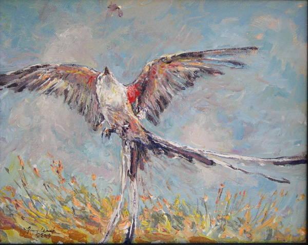 Flycatcher Painting - Scissor Tail Flycatcher  by Jimmy Leach