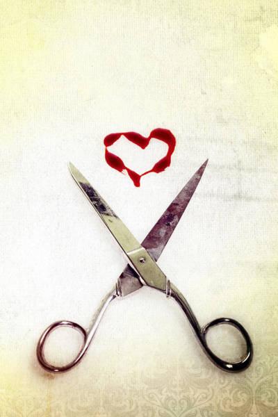 Love Photograph - Scissors And Heart by Joana Kruse