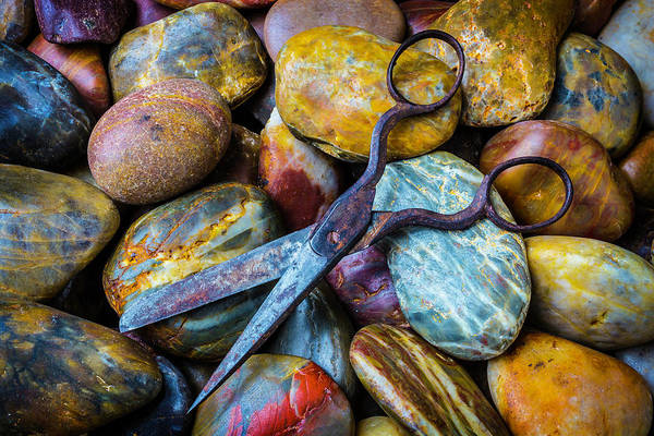 Hard Rock Photograph - Scissors And Rocks by Garry Gay