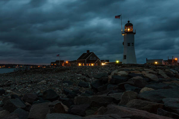 Photograph - Scituate Lighthouse Before Sunrise by Brian MacLean