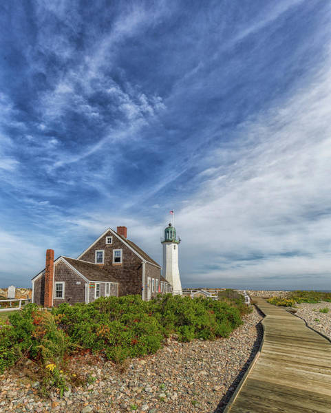 Photograph - Scituate Lighthouse Boardwalk by Brian MacLean