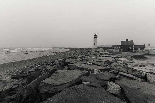Photograph - Scituate Lighthouse In Sepia by Brian MacLean