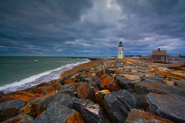 Photograph - Scituate Lighthouse Oil Painting by Brian MacLean