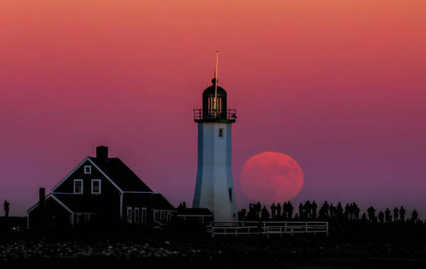 Photograph - Scituate Supermoon by Rob Davies