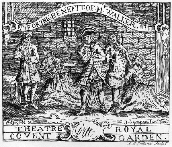 Wall Art - Drawing - Scnene From The Beggar 's Opera By John Gay by William Hogarth