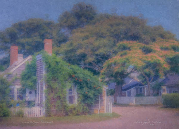 Sconset Cottages Nantucket Art Print