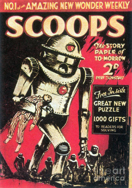Tabloids Photograph - Scoops Science Fiction Magazine 1934 by Science Source