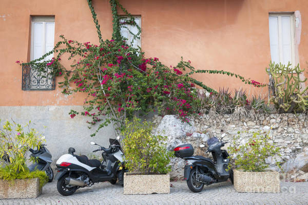 Wall Art - Photograph - Scooters On Street In Villefranche-sur-mer by Elena Elisseeva