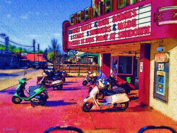 Digital Art - Scooting To The Show by Alec Drake