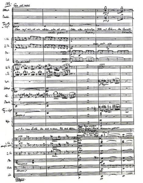 Wall Art - Drawing - Score For Faust, Opera By Austrian Conductor Felix Weingartner by Felix Weingartner