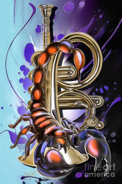 Trumpet Mixed Media - Scorpio by Melanie D