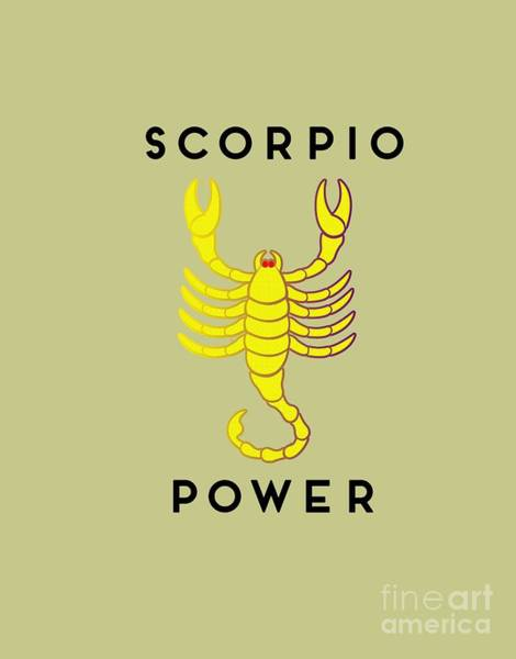 Digital Art - Scorpio Power by Judy Hall-Folde