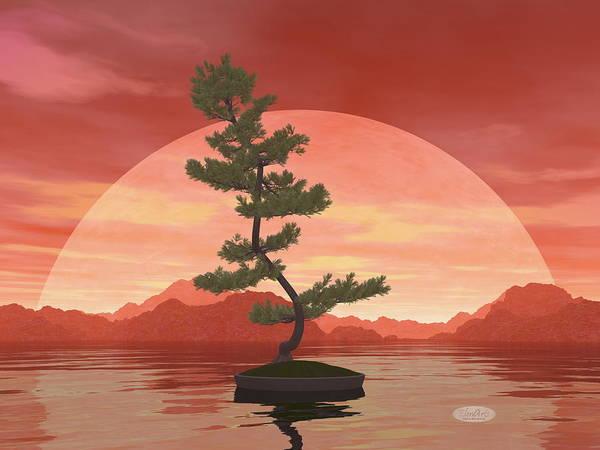 Bonsai Tree Digital Art - Scotch Pine Bonsai Tree - 3d Render by Elenarts - Elena Duvernay Digital Art
