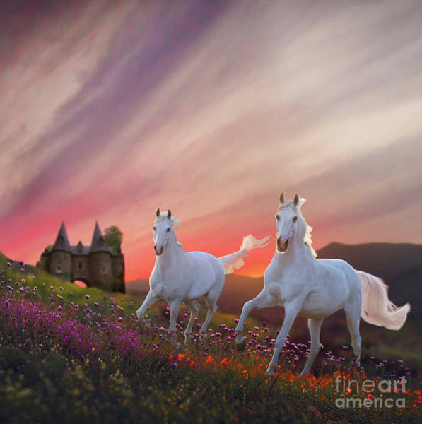 Digital Art - Scotland Fantasy by Melinda Hughes-Berland