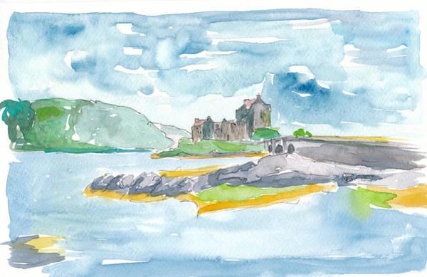 Eilean Donan Castle Painting - Scotland Highlands Fantasy With Eilean Donan Castle by M Bleichner