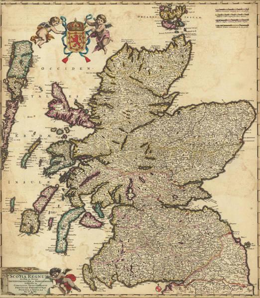 Wall Art - Painting - Scotland Kingdoms by Nicolaes Visscher