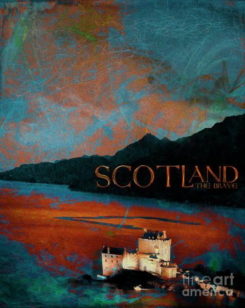 Digital Art - Scotland The Brave by Edmund Nagele