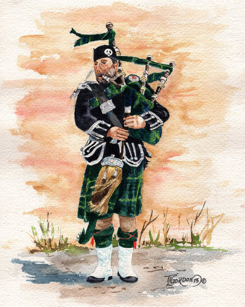 Wall Art - Painting - Scotland The Brave by Timithy L Gordon
