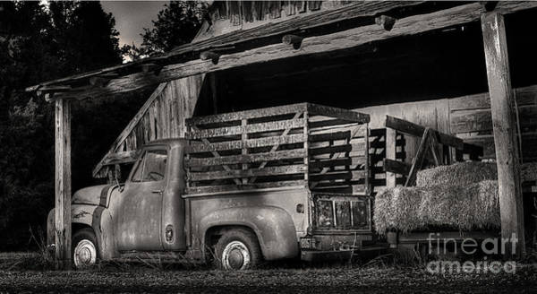 Photograph - Scotopic Vision 5 - The Barn by Pete Hellmann