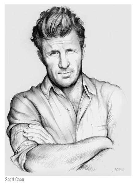 Wall Art - Drawing - Scott Caan by Greg Joens
