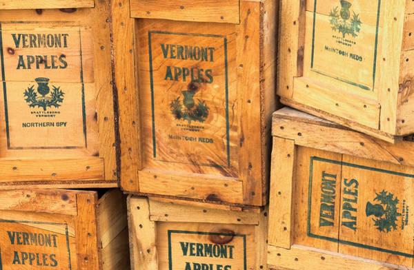 Photograph - Scott Farm Apple Boxes by Tom Singleton
