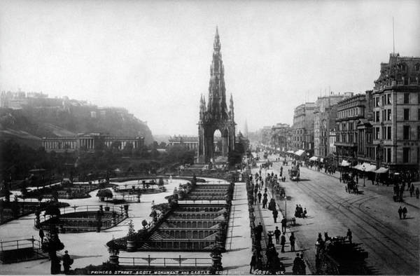 Photograph - Scott Monument On Princes Street And Castle by Lee Santa