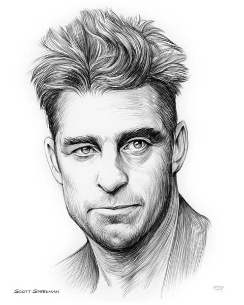 Pen Drawing - Scott Speedman by Greg Joens