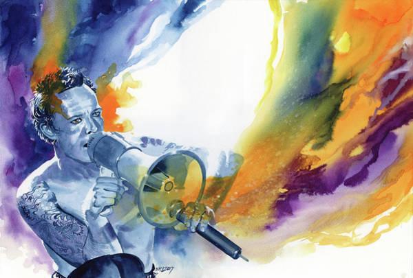 Velvet Revolver Wall Art - Painting - Scott Weiland by Ken Meyer