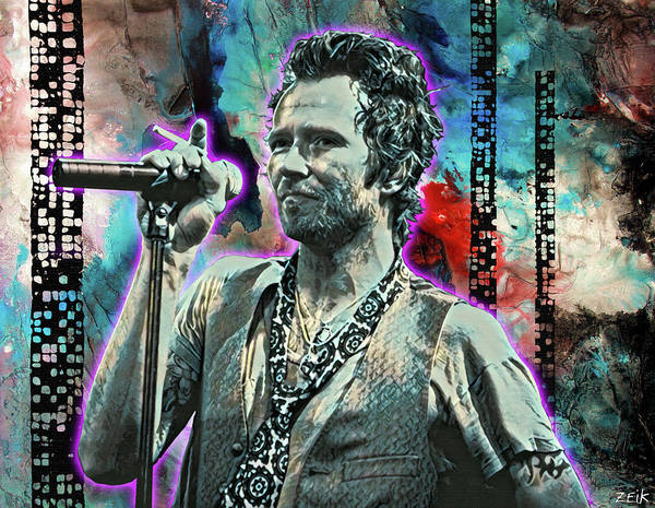 Wall Art - Painting - Scott Weiland - Silvergun Superman by Bobby Zeik