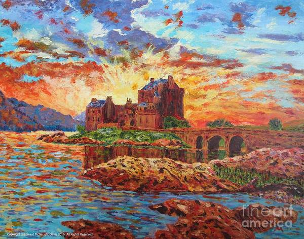 Eilean Donan Castle Painting - Scottish Castle - Eilean Donan by Edward McNaught-Davis