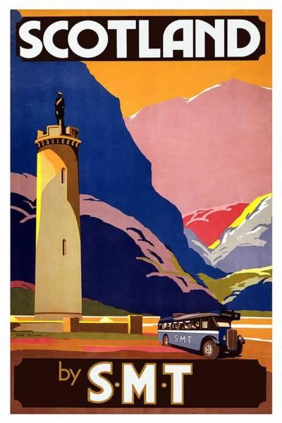 Motor Mixed Media - Scottish Motor Traction - Scotland By Smt - Retro Travel Poster - Vintage Poster by Studio Grafiikka