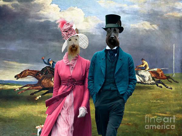 Wall Art - Painting - Scottish Terrier Art -  Derby In Epsom  by Sandra Sij
