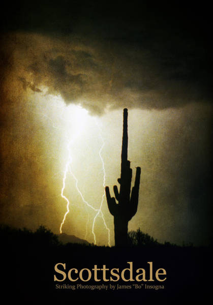 Photograph - Scottsdale Arizona Fine Art Lightning Photography Poster by James BO Insogna