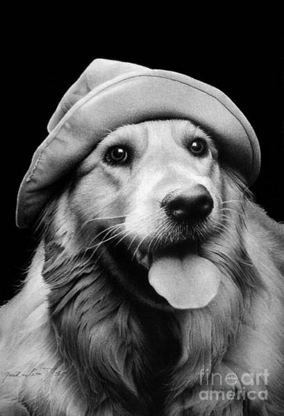 Pet Portrait Drawing - Scout by Miro Gradinscak