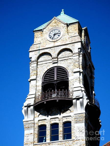 Courthouse Towers Wall Art - Photograph - Scranton Blue Sky - Courthouse Tower  by Janine Riley