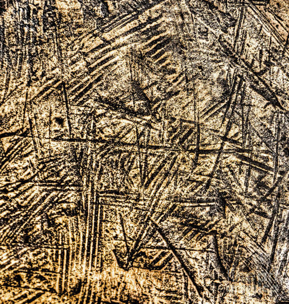 Scratches Photograph - Scratched Copper by DiFigiano Photography