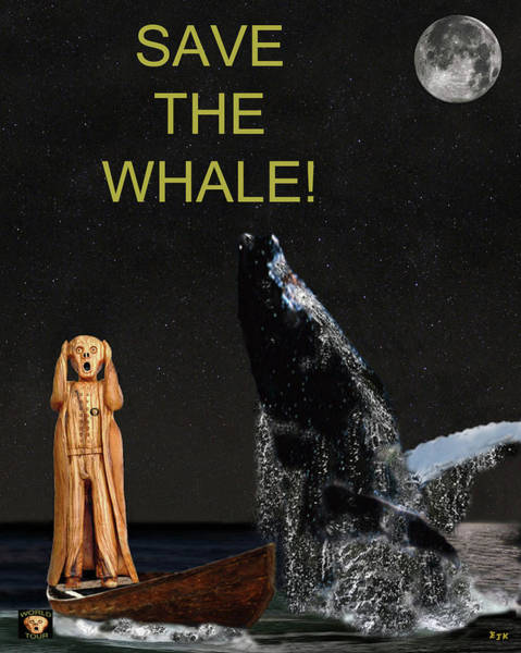 Save The Whales Mixed Media - Scream With Humpback Save The Whale by Eric Kempson