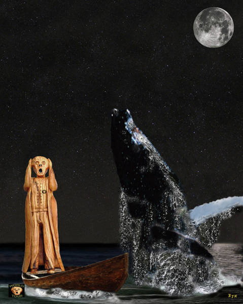 Save The Whales Mixed Media - Scream With Humpback Whale by Eric Kempson