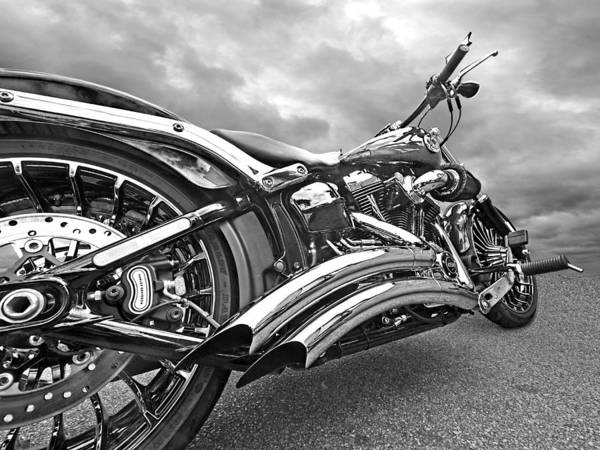 Photograph - Screamin Eagle 103 In Black And White by Gill Billington