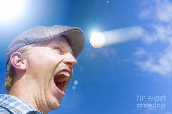 Wall Art - Photograph - Screaming Golfer by Jorgo Photography - Wall Art Gallery